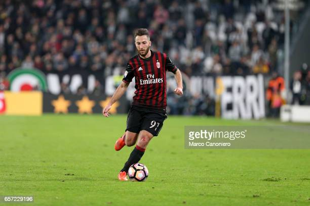 Andrea Bertolacci of Ac Milan in action during the Serie A football match between Juventus FC and Ac Milan at Juventus Stadium Juventus FC wins 21...
