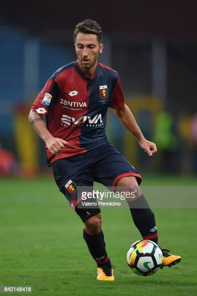 Andrea Bertolacci of Genoa CFC in action during the Serie A match between Genoa CFC and Juventus at Stadio Luigi Ferraris on August 26 2017 in Genoa...