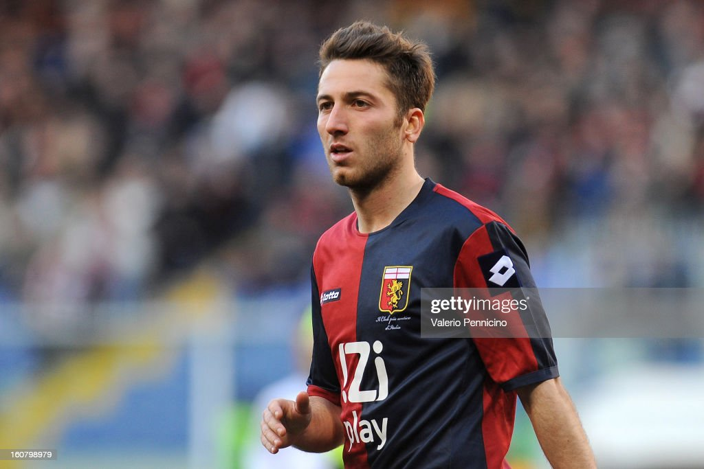 Andrea Bertolacci of Genoa CFC looks on during the Serie A match between Genoa CFC and SS Lazio at Stadio Luigi Ferraris on February 3, 2013 in Genoa, Italy.