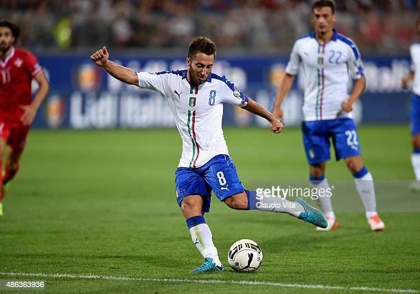 Andrea Bertolacci of Italy in action during the UEFA EURO 2016 qualifier between Italy and Malta on September 3 2015 in Florence Italy