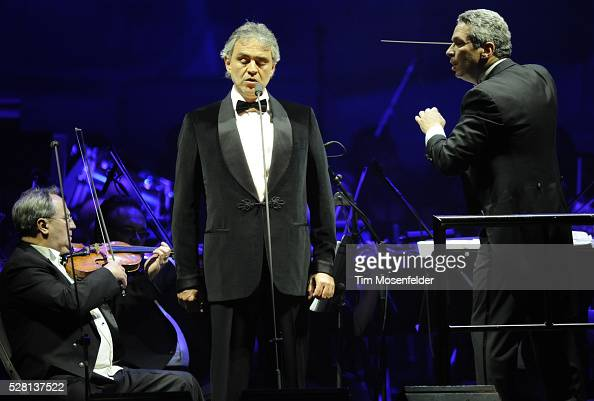 Andrea Bocelli and Conductor Eugene Kohn perform in support of Andrea's Opera release at HP Pavilion in San Jose California