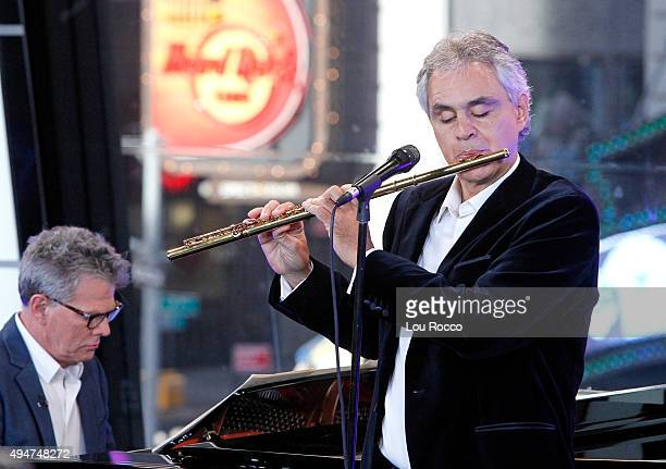 AMERICA Andrea Bocelli and David Foster perform live on 'Good Morning America' 10/27/15 airing on the ABC Television Network