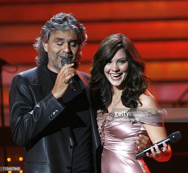 Andrea Bocelli and Katharine McPhee during JCPenney Jam The Concert for America's Kids Show at Shrine Auditorium in Los Angeles California United...