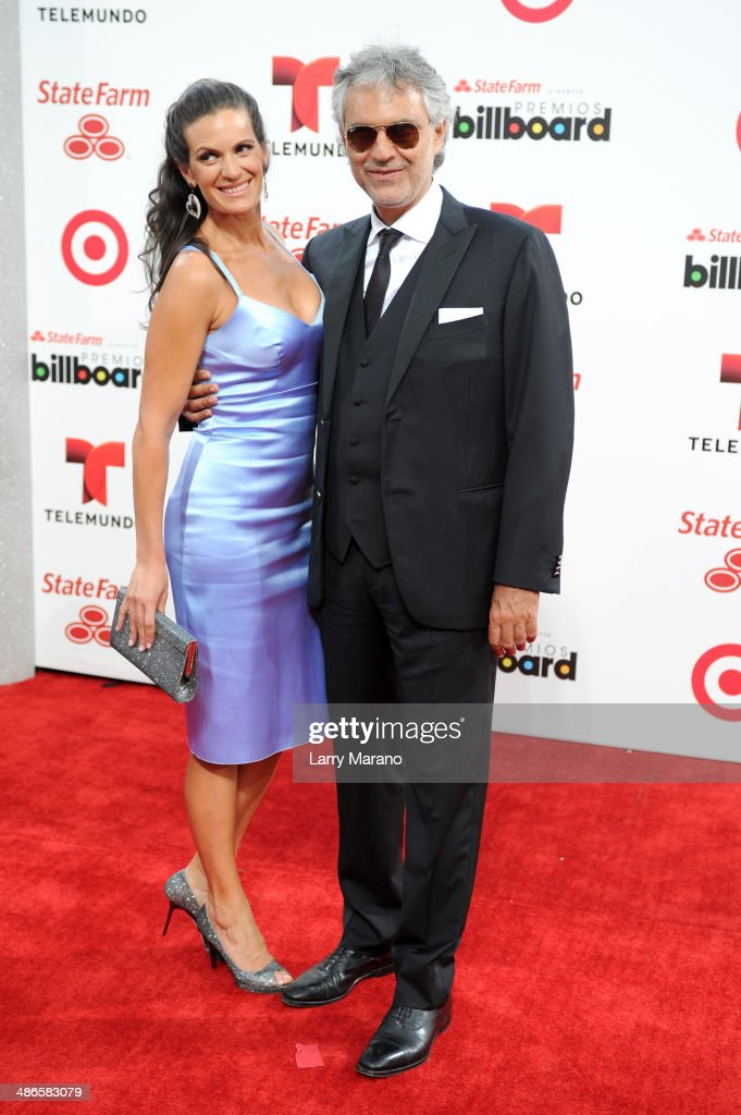 <a gi-track='captionPersonalityLinkClicked' href=/galleries/search?phrase=Andrea+Bocelli&family=editorial&specificpeople=211558 ng-click='$event.stopPropagation()'>Andrea Bocelli</a> and wife Veronica Berti attends the 2014 Billboard Latin Music Awards at Bank United Center on April 24, 2014 in Miami, Florida.
