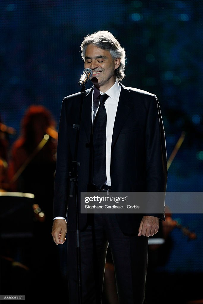 Andrea Bocelli at the 'World Music Awards 2010 - show' at the Sporting Club on May 18, 2010 in Monte Carlo, Monaco.