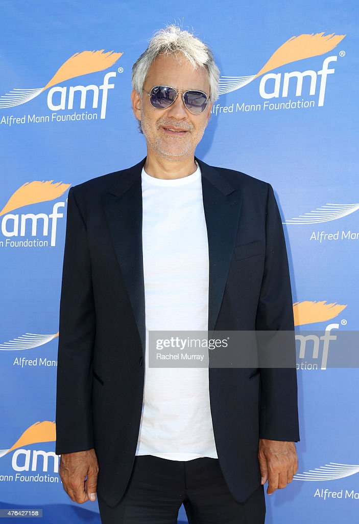 <a gi-track='captionPersonalityLinkClicked' href=/galleries/search?phrase=Andrea+Bocelli&family=editorial&specificpeople=211558 ng-click='$event.stopPropagation()'>Andrea Bocelli</a> attends Alfred Mann Foundation's an Evening Under The Stars with <a gi-track='captionPersonalityLinkClicked' href=/galleries/search?phrase=Andrea+Bocelli&family=editorial&specificpeople=211558 ng-click='$event.stopPropagation()'>Andrea Bocelli</a> on June 8, 2015 in Los Angeles, California.