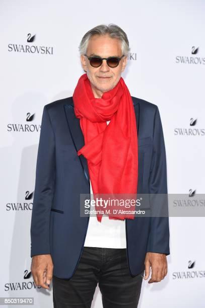 Andrea Bocelli attends Swarovski Crystal Wonderland Party on September 20 2017 in Milan Italy