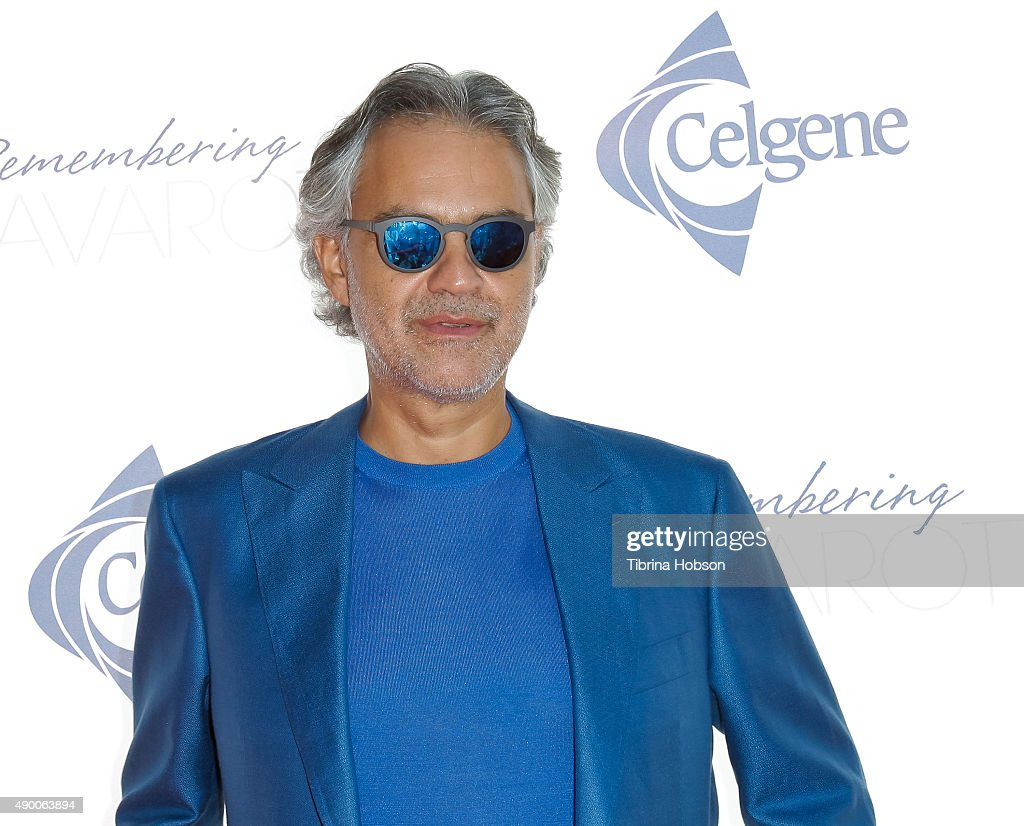 <a gi-track='captionPersonalityLinkClicked' href=/galleries/search?phrase=Andrea+Bocelli&family=editorial&specificpeople=211558 ng-click='$event.stopPropagation()'>Andrea Bocelli</a> attends the Remembering Pavarotti Benefit Concert and Gala featuring <a gi-track='captionPersonalityLinkClicked' href=/galleries/search?phrase=Andrea+Bocelli&family=editorial&specificpeople=211558 ng-click='$event.stopPropagation()'>Andrea Bocelli</a> and Renee Fleming at The Music Center on September 25, 2015 in Los Angeles, California.