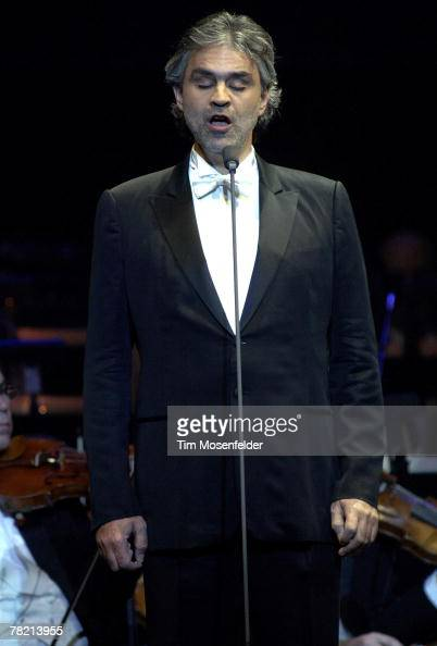 Andrea Bocelli peforms in support of his 'Vivere The Best of Andrea Bocelli' release at HP Pavilion on December 2 2007 in San Jose California