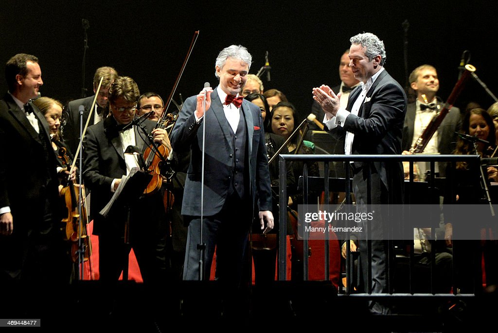 Andrea Bocelli perform at BB&T Center on February 14, 2014 in Sunrise, Florida.