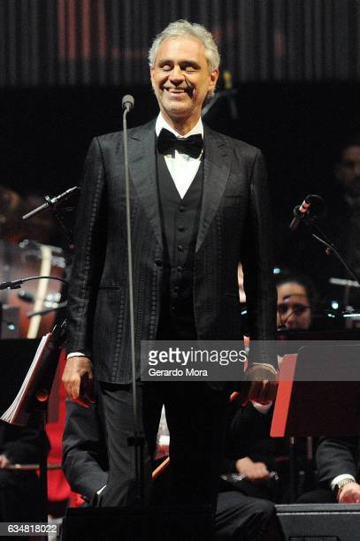 Andrea Bocelli performs at Amway Center on February 11 2017 in Orlando Florida