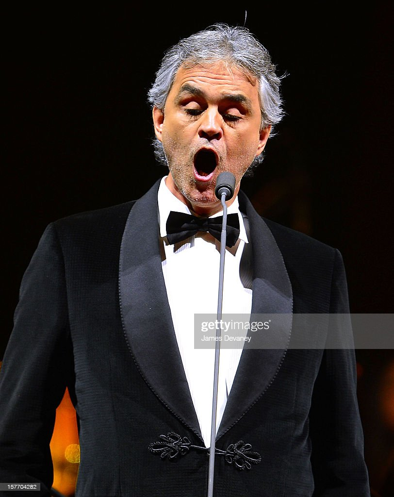 Andrea Bocelli performs at Barclays Center on December 5, 2012 in the Brooklyn borough of New York City.