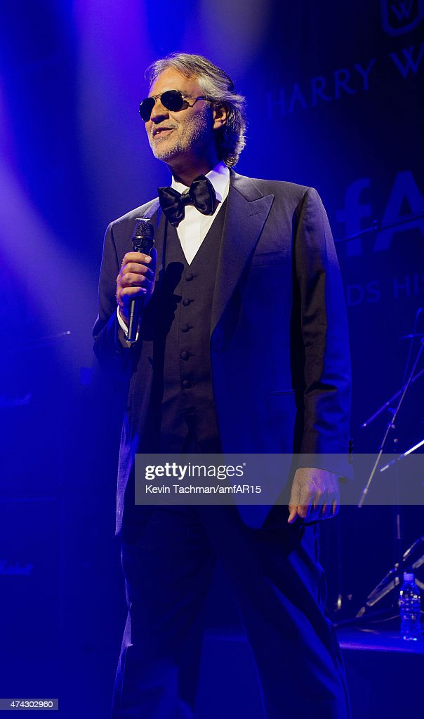 <a gi-track='captionPersonalityLinkClicked' href=/galleries/search?phrase=Andrea+Bocelli&family=editorial&specificpeople=211558 ng-click='$event.stopPropagation()'>Andrea Bocelli</a> performs during dinner for the amfAR 22nd Annual Cinema Against AIDS Gala at Hotel du Cap-Eden-Roc on May 21, 2015 in Cap d'Antibes, France.