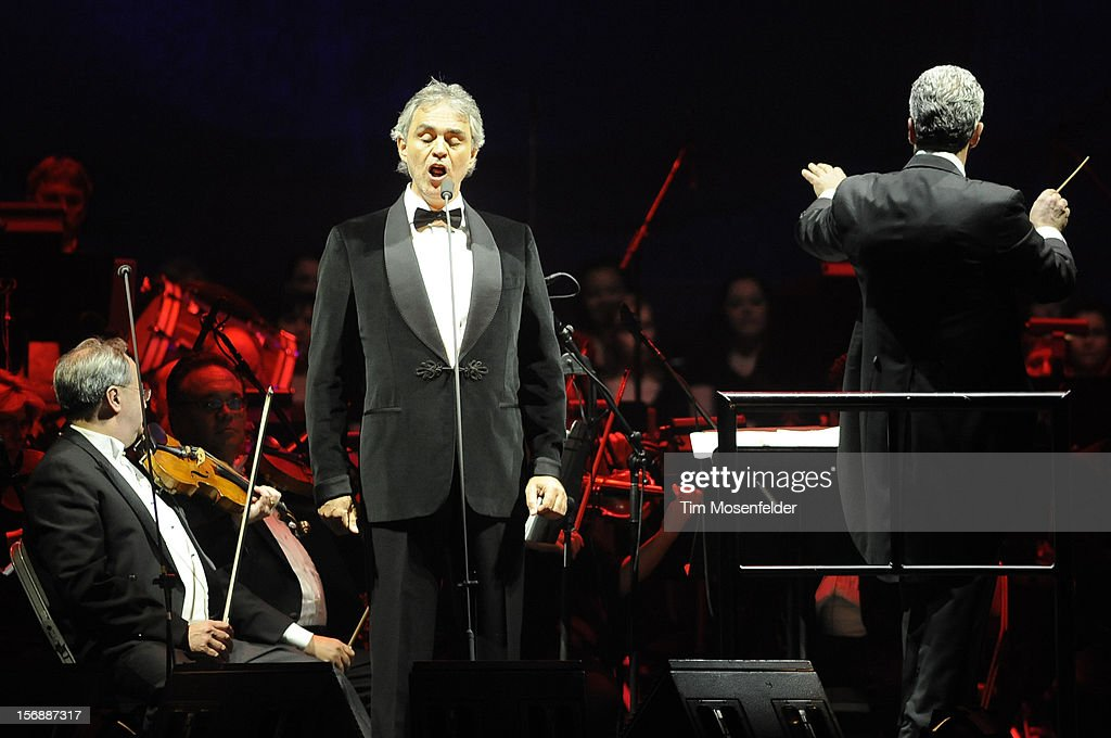 <a gi-track='captionPersonalityLinkClicked' href=/galleries/search?phrase=Andrea+Bocelli&family=editorial&specificpeople=211558 ng-click='$event.stopPropagation()'>Andrea Bocelli</a> (C) performs in support of his Opera release at HP Pavilion on November 23, 2012 in San Jose, California.