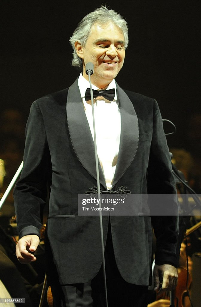 <a gi-track='captionPersonalityLinkClicked' href=/galleries/search?phrase=Andrea+Bocelli&family=editorial&specificpeople=211558 ng-click='$event.stopPropagation()'>Andrea Bocelli</a> performs in support of his Opera release at HP Pavilion on November 23, 2012 in San Jose, California.