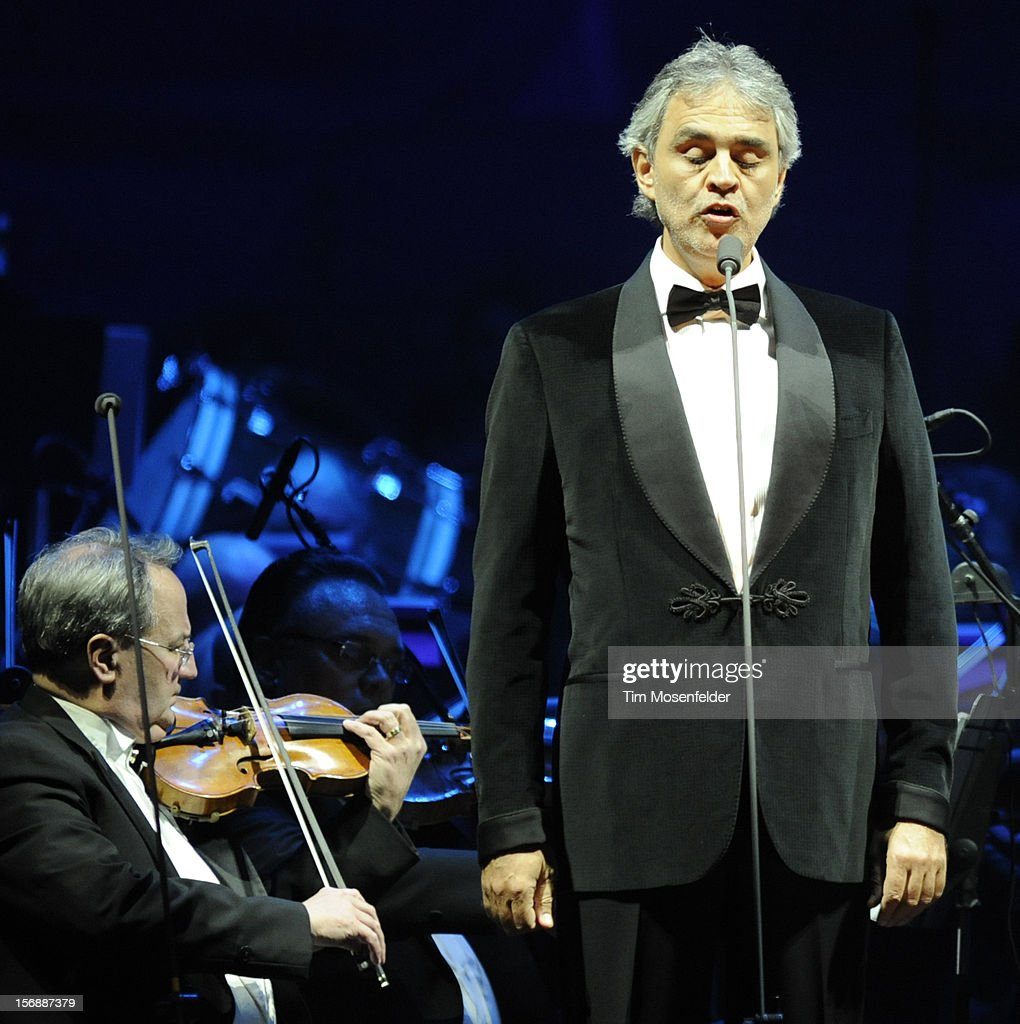 Andrea Bocelli performs in support of his Opera release at HP Pavilion on November 23, 2012 in San Jose, California.