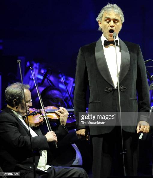 Andrea Bocelli performs in support of his Opera release at HP Pavilion on November 23 2012 in San Jose California