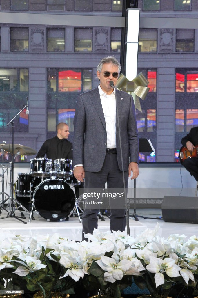 AMERICA - Andrea Bocelli performs live on 'Good Morning America,' 12/10/13, airing on the ABC Television Network. ANDREA