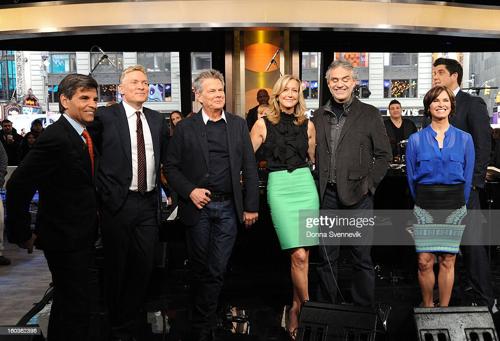 AMERICA - Andrea Bocelli performs live on 'Good Morning America,' 1/29/13, airing on the ABC Television Network. (Photo by Donna Svennevik/ABC via Getty Images) GEORGE