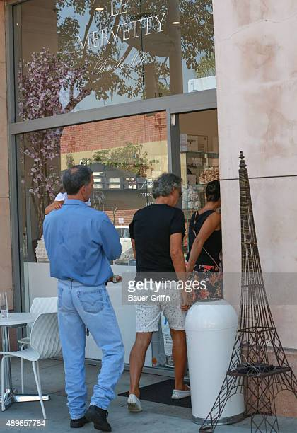 Andrea Bocelli with his wife Veronica Berti are seen getting his birthday cake on September 22 2015 in Los Angeles California