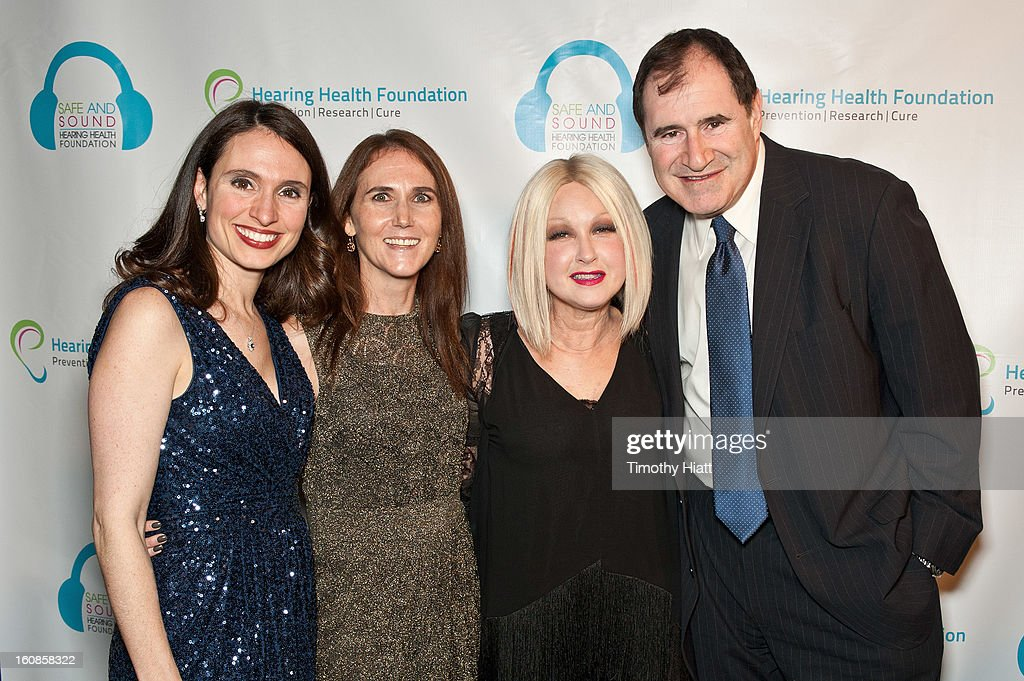 Andrea Boidman, Shari Eberts, Cyndi Lauper, and Richard Kind attend the Hearing Health Foundation's An Intimate Evening with Cyndi Lauper at B.B. King Blues Club & Grill on February 6, 2013 in New York City.