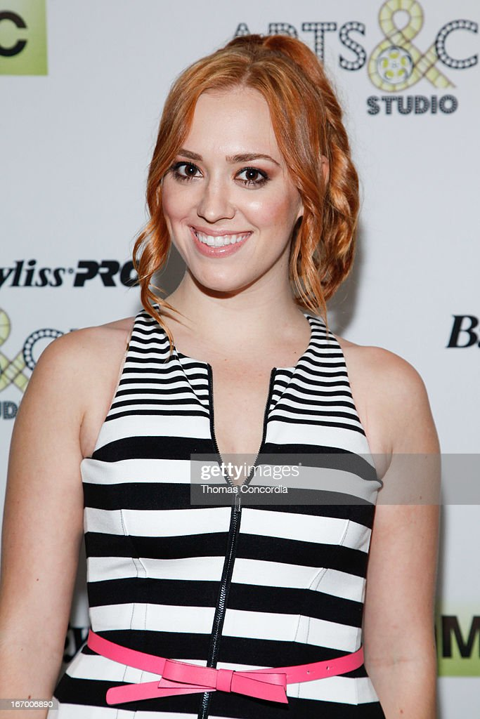 Andrea Bowen attends BaByliss PRO Arts & Cinema Studio Press-Day on April 19, 2013 in New York City.