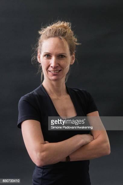 Andrea C Hoffman attends the Edinburgh International Book Festival on August 12 2017 in Edinburgh Scotland The Edinburgh International Book Festival...