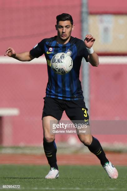 Andrea Cagnano of FC Internazionale in action during the Viareggio juvenile tournament match between FC Internazionale and Pas Giannina at Stadio...