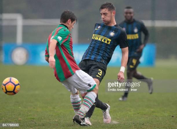 Andrea Cagnano of FC Internazionale Milano competes for the ball during the Primavera Tim juvenile match between FC Internazionale and Ternana Calcio...
