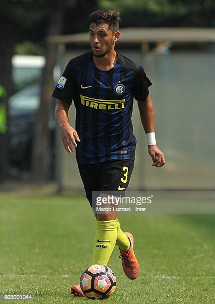 Andrea Cagnano of FC Internazionale Milano in action during the Primavera Tim juvenile match between FC Internazionale and US Citta di Palermo at...