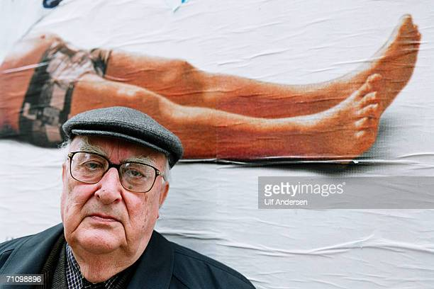 Andrea Camilleri poses while in RomeItaly to promote his book on the 24th of February 2002