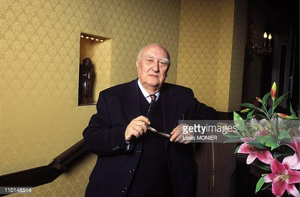Andrea Camilleri writer in France on March 19 1999