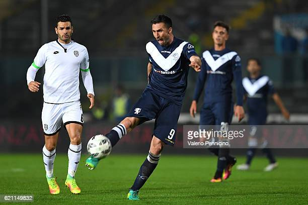 Andrea Caracciolo of Brescia Calcio in action during the Serie B match between Brescia Calcio and AC Cesena at Stadio Mario Rigamonti on November 4...