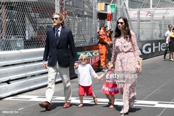 Andrea Casiraghi Alexandre Casiraghi India Casiraghi and Tatiana Santo Domingo attend the Monaco Formula 1 Grand Prix at the Monaco street circuit on...