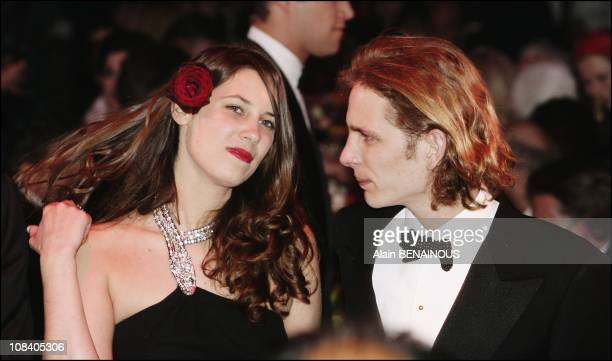 Andrea Casiraghi and his girlfriend Tatiana Santo Domingo in Monaco on March 24 2007