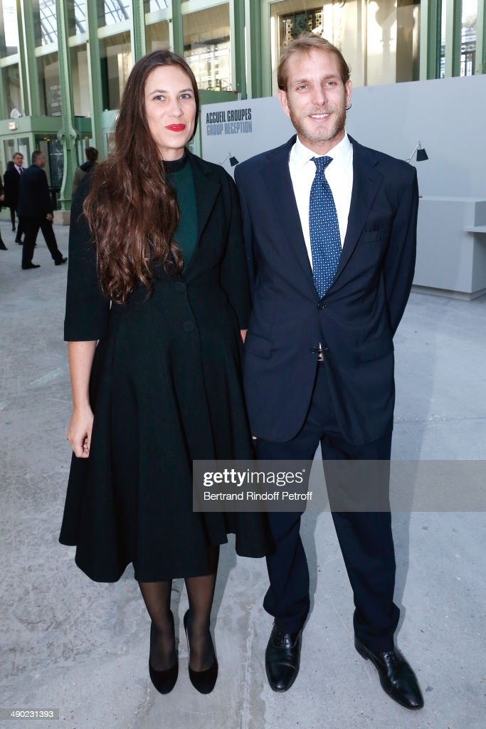 Andrea Casiraghi and his wife Tatiana Santo Domingo attend 'The strange city' Exhibition by Ilya and Emilia Kabakov at Monumenta 2014 : Dinner to benefit 'Naked Heart Foundation'. Held at Grand Palais on May 13, 2014 in Paris, France.