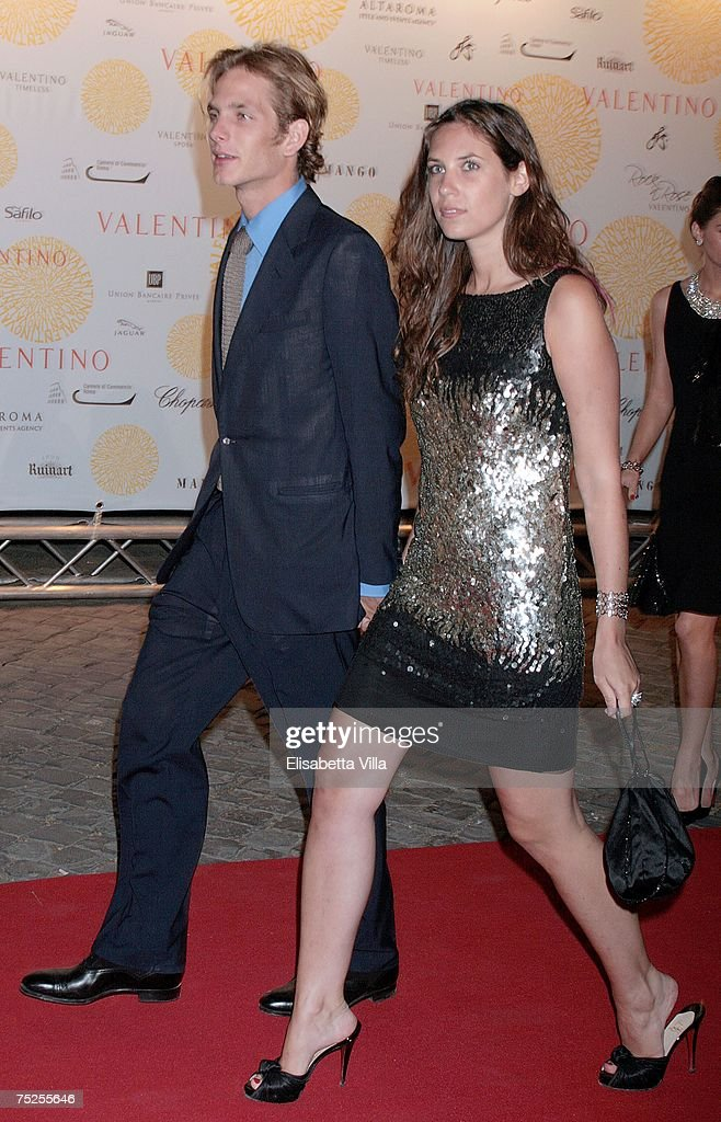 Andrea Casiraghi and Tatiana Santo Domingo arrive at the 'Valentino In Rome, 45 Years Of Style' post-exhibit gala dinner at the Temple of Venus in the Imperial Forum July 6, 2007 in Rome, Italy. Fashion icon Valentino decided to mark the celebration of the 45th anniversary of his luxury brand by breaking a 17-year tradition of unveiling his luxurious haute couture collections for women in Paris with a show in Rome.