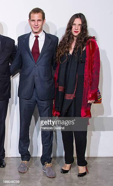 Andrea Casiraghi and Tatiana Santo Domingo attend the Dior Cruise Collection 2014 on May 18 2013 in Monaco Monaco