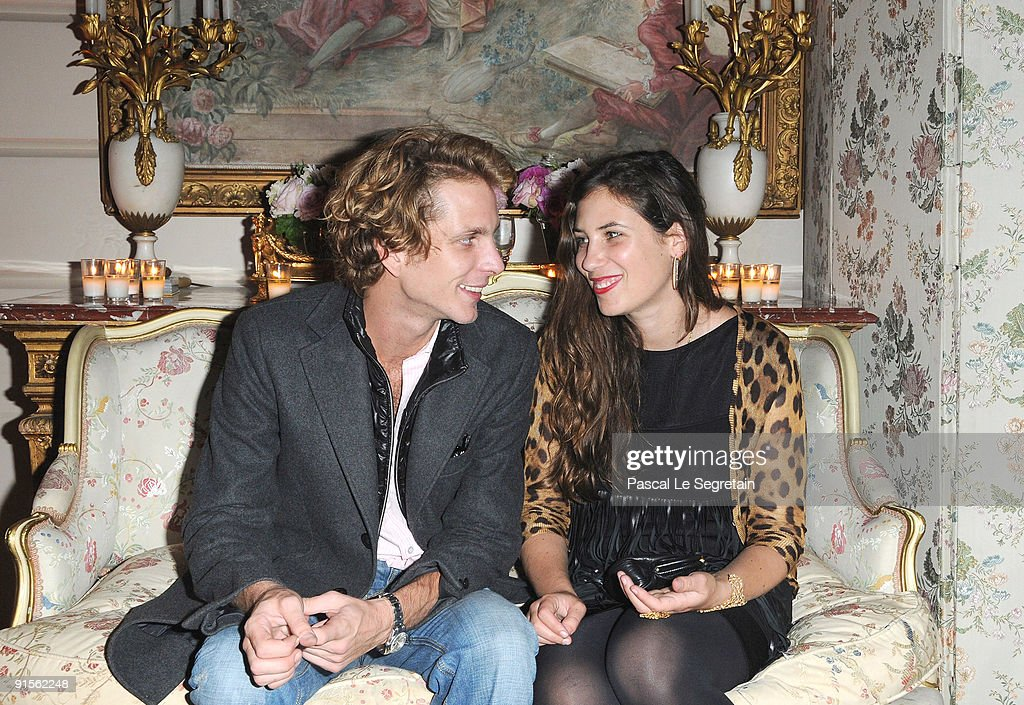 <a gi-track='captionPersonalityLinkClicked' href=/galleries/search?phrase=Andrea+Casiraghi&family=editorial&specificpeople=213711 ng-click='$event.stopPropagation()'>Andrea Casiraghi</a> (L) and <a gi-track='captionPersonalityLinkClicked' href=/galleries/search?phrase=Tatiana+Santo+Domingo&family=editorial&specificpeople=618155 ng-click='$event.stopPropagation()'>Tatiana Santo Domingo</a> (R) attend the launch of new Jewellery collection 'NEREE for ERE' by Repossi at the Ritz Hotel on October 7, 2009 in Paris, France.