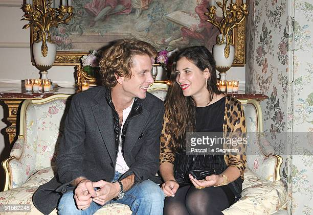 Andrea Casiraghi and Tatiana Santo Domingo attend the launch of new Jewellery collection 'NEREE for ERE' by Repossi at the Ritz Hotel on October 7...