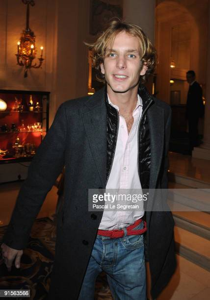 Andrea Casiraghi attends the launch of new Jewellery collection 'NEREE for ERE' by Repossi at the Ritz Hotel on October 7 2009 in Paris France
