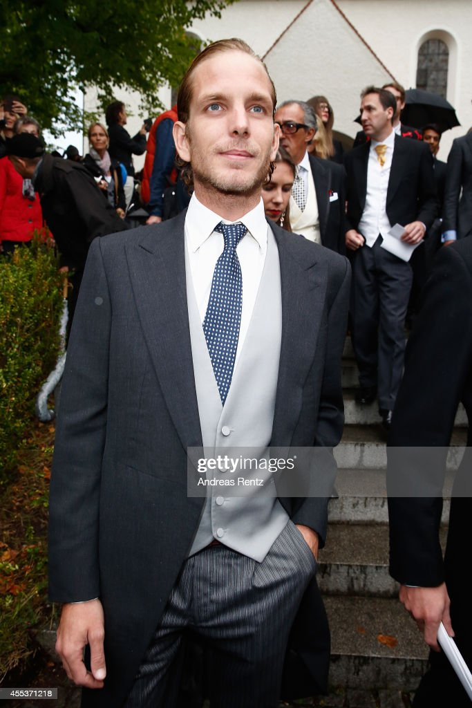 <a gi-track='captionPersonalityLinkClicked' href=/galleries/search?phrase=Andrea+Casiraghi&family=editorial&specificpeople=213711 ng-click='$event.stopPropagation()'>Andrea Casiraghi</a> attends the wedding ceremony of Princess Maria Theresia von Thurn und Taxis and Hugo Wilson at the St. Joseph church on September 13, 2014 in Tutzing, Germany.