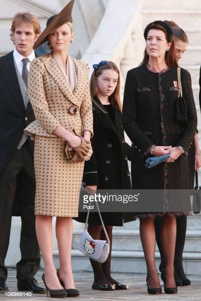 Andrea Casiraghi Charlene Wittstock Princess Alexandra of Hanover Princess Caroline of Hanover and Charlotte Casiraghi attend the Award Ceremony for...