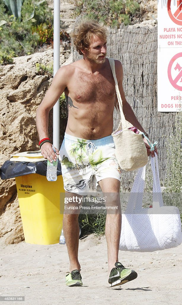 Andrea Casiraghi is seen on July 26, 2014 in Ibiza, Spain.