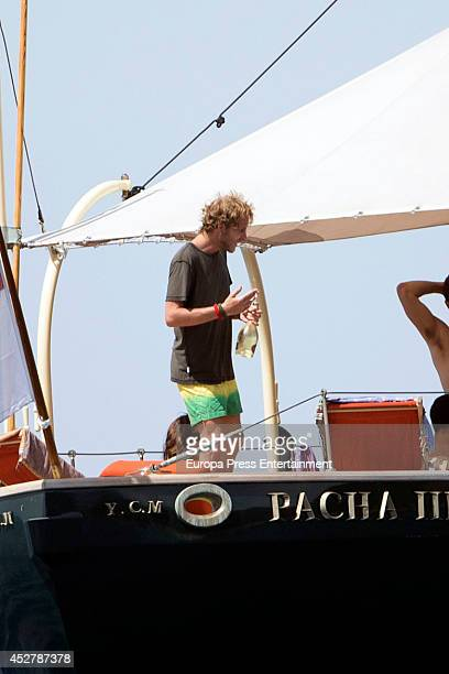 Andrea Casiraghi is seen seen on July 25 2014 in Ibiza Spain
