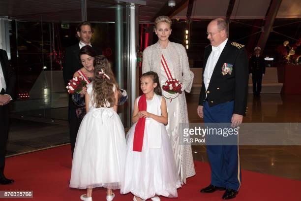 Andrea Casiraghi Princess Caroline of HanoverPrincess Charlene of Monaco and Prince Albert II of Monaco arrive at the Monaco National Day Gala in...
