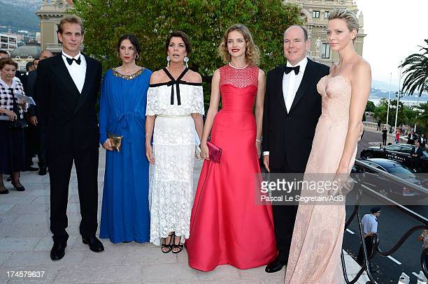Andrea Casiraghi Tatiana Santo Domingo Princess Caroline of Hanover Natalia Vodianova Prince Albert II of Monaco and Princess Charlene of Monaco...
