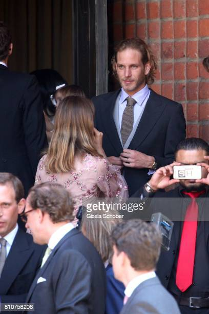 Andrea Casriraghi and his sister Princess Alexandra of Hanover during the wedding of Prince Ernst August of Hanover jr Duke of BrunswickLueneburg and...