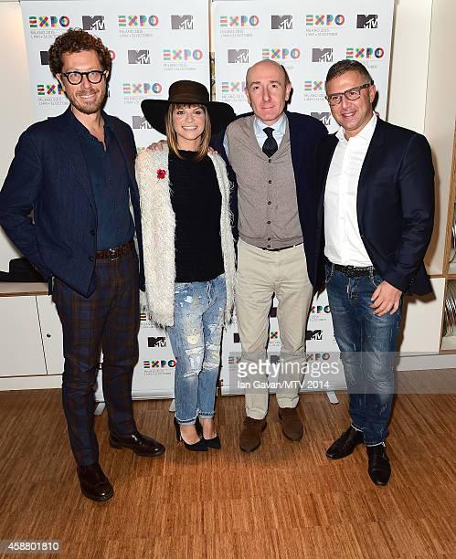Andrea Castellari Alessandra Amoroso Roberto Arditti and Raffaele Annecchino as Milan is announced as the host city for the MTV EMA's 2015 on...