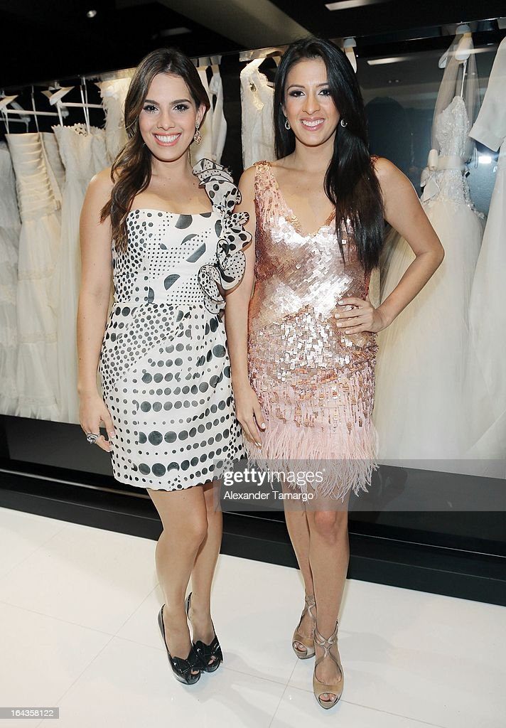 Andrea Chediak and Maria Teresa Interiano attend the grand opening of Rosa Clara store on March 22, 2013 in Coral Gables, Florida.